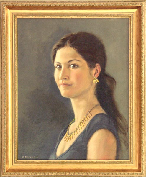 Elisa oil portrait