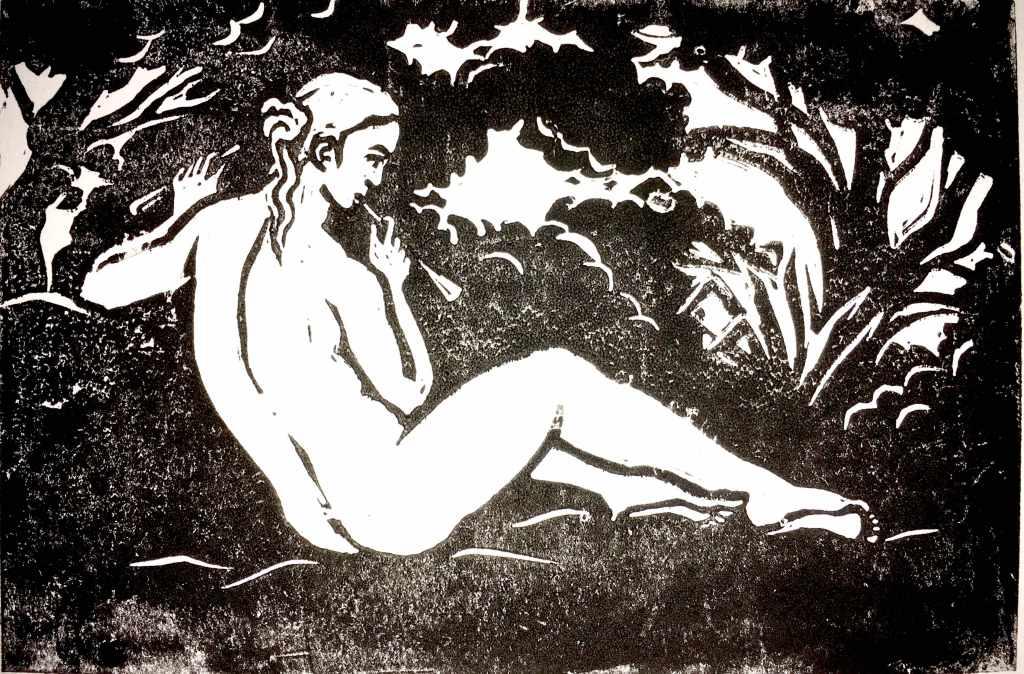 Muse Lino print
