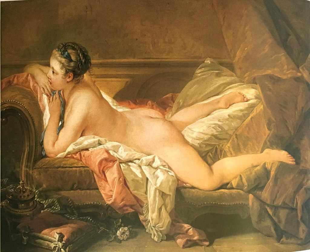 Boucher's Jeune fille alongée (1752)